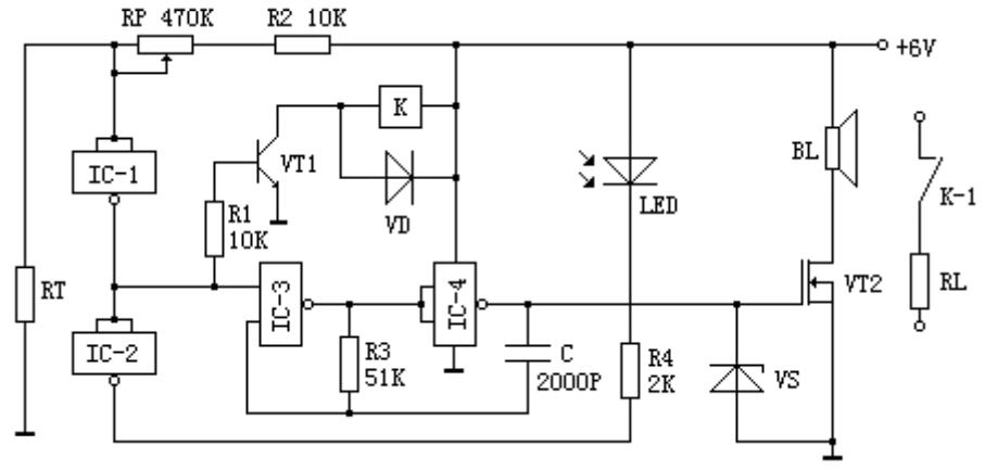 基于CD4011 的簡易溫度異常報警器電路設計