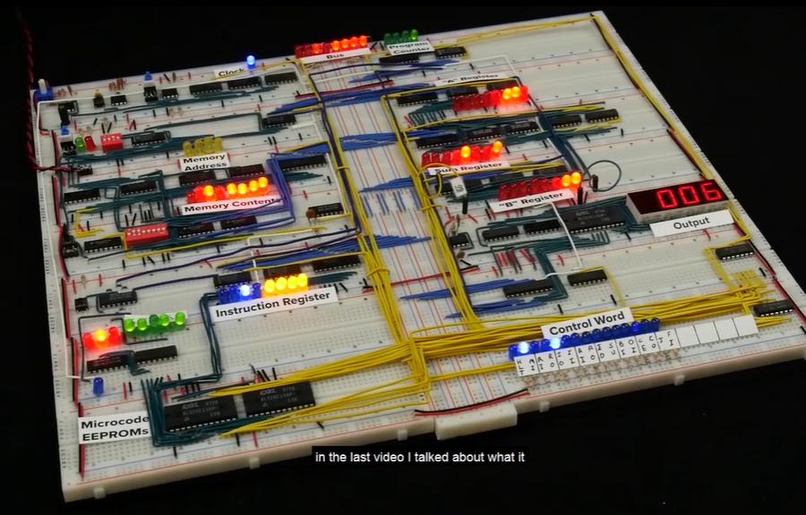 [系列教程]国外大神带你用面包板制作8-bit计算机(CPU标志寄存器)