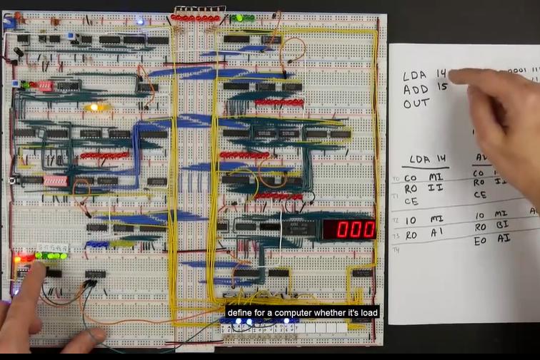 [系列?#22363;蘛国外大神带你用面包板制作8-bit计算机(CPU控制逻辑3)