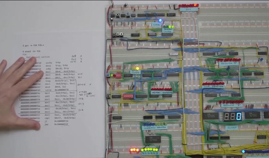 [系列教程]国外大神带你用面包板制作8-bit计算机(在面包板计算机上编程Fibonacci)