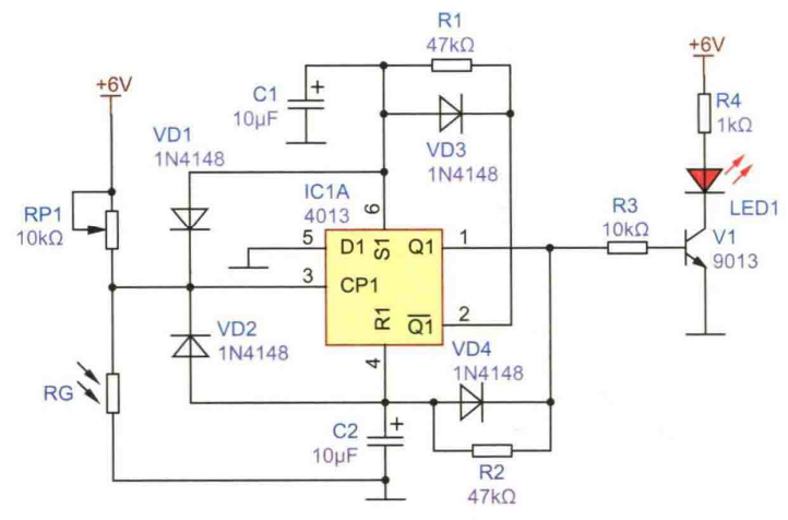 光控路障闪烁警示灯电路方案设计