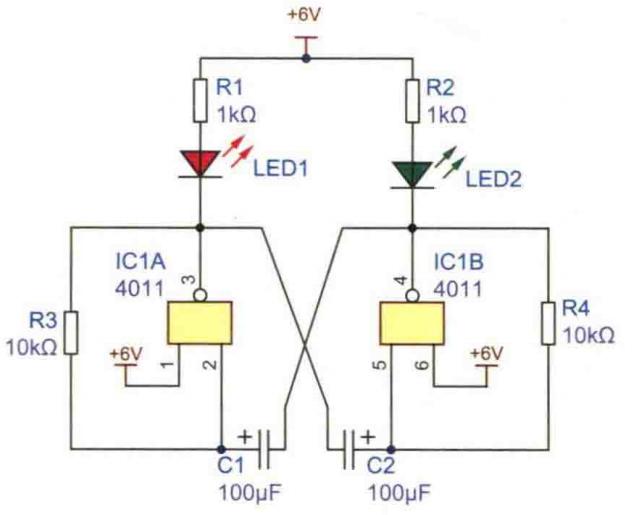 交替闪烁信号灯电路方案设计