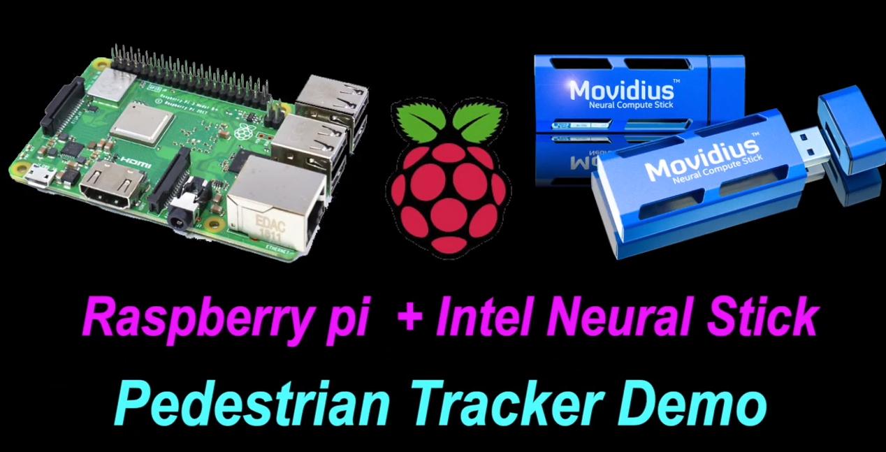 树莓派4B与英特尔神经计算棒2实现人体跟踪计数