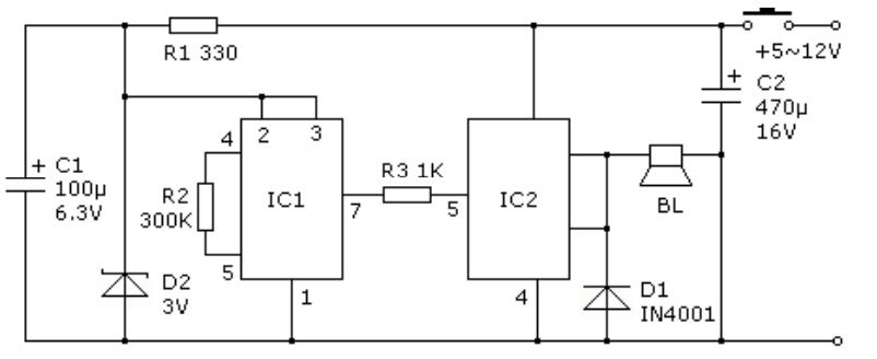 警车警音发生器工作原理是什么?电路如何设计?