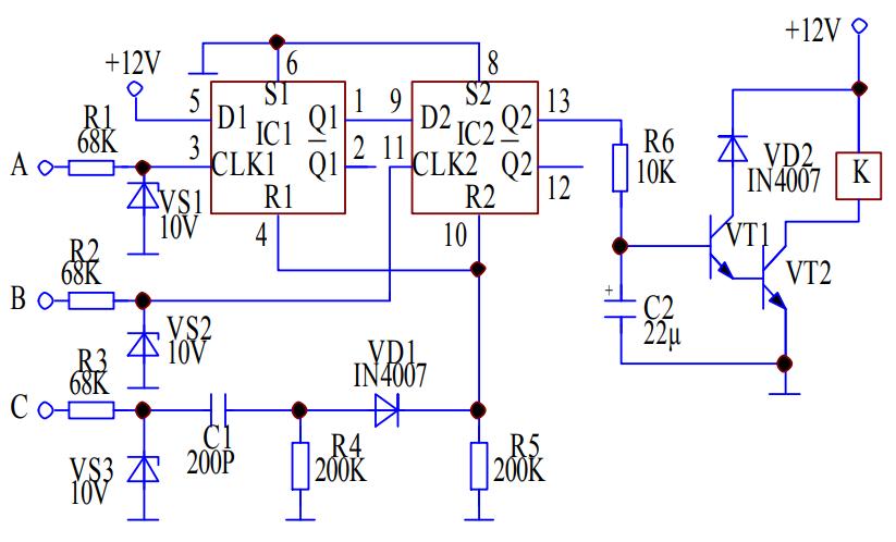 防微杜漸,三相交流電相序檢測電路方案設計