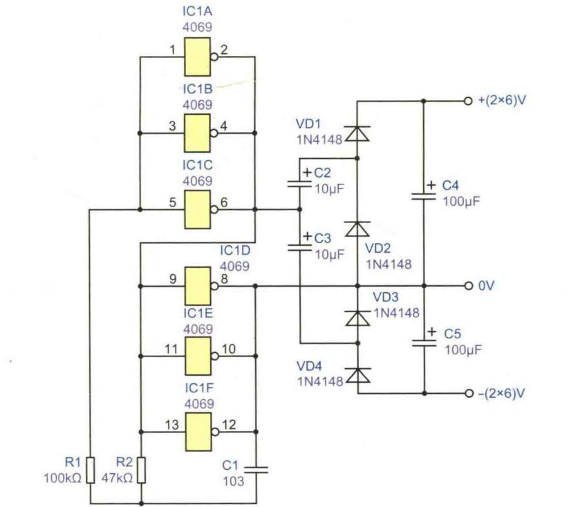 升压正负12V电源电路设计