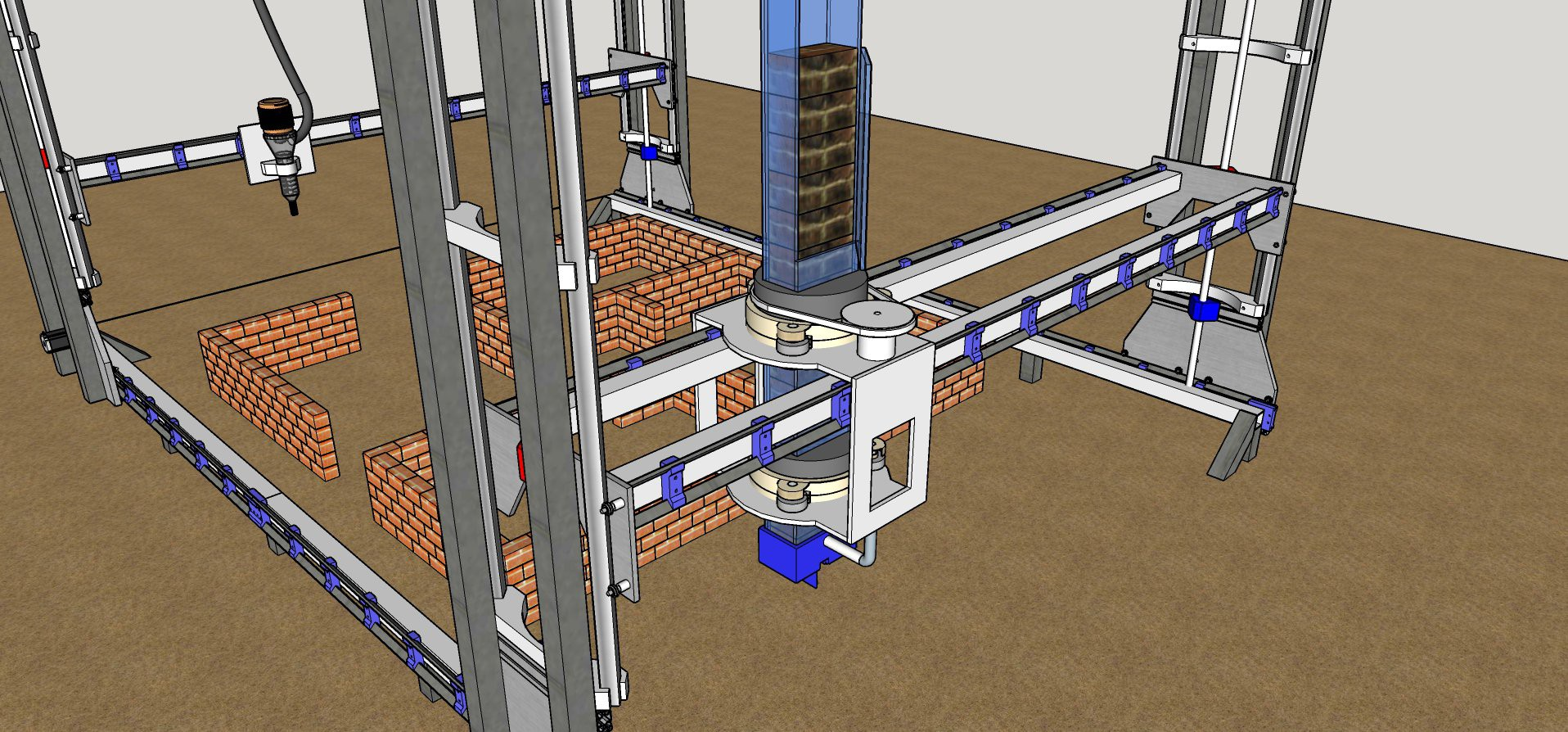 ALEKYA? - 開源建筑機器人,旨在利用發展中國家的當地建筑材料實現建筑施工的自動化