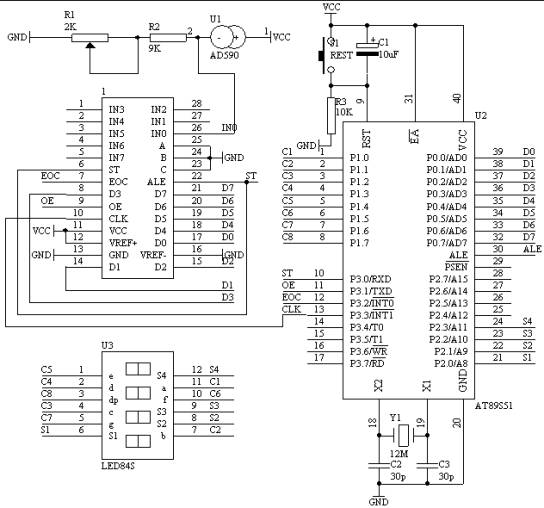数显温度计设计