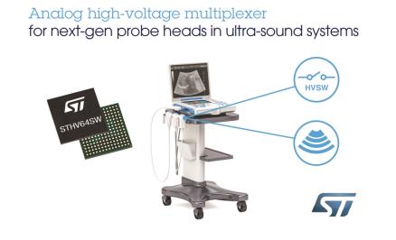 意法半导体推出64通道高压模拟开关芯片STHV64SW