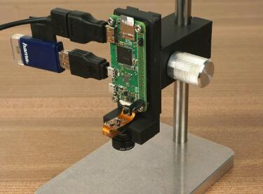 创意十足,用树莓派diy一个Pi显微镜,从此电路板瑕疵一目了然