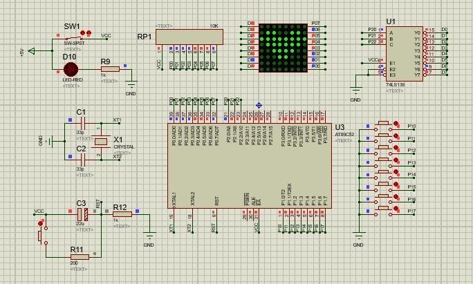 基于51單片機STC89C52RC的廣告屏電路方案設計