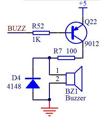 单片机蜂鸣器控制程序与驱动电路