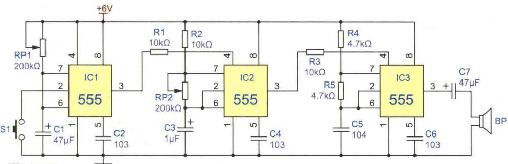间歇单音音响电路方案设计