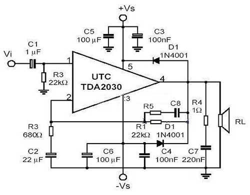 基于TDA2030的可靠音频功放电路设计方案