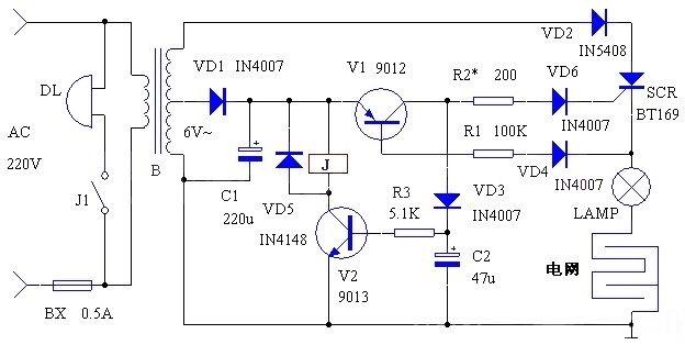 典型的电子灭鼠器电路