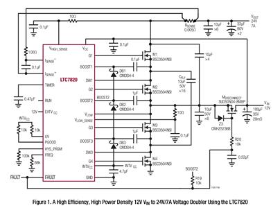 基于LTC7820的170W 倍压器电路设计
