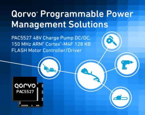Qorvo发布电源应用的单芯片SOC控制器PAC5xxx系列