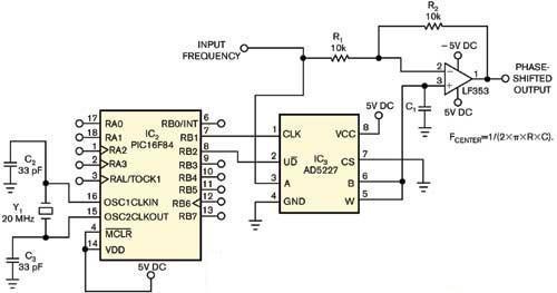实用微控制器控制模拟移相器设计电路分析