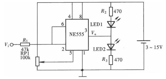 简易发光显示型逻辑笔电路设计