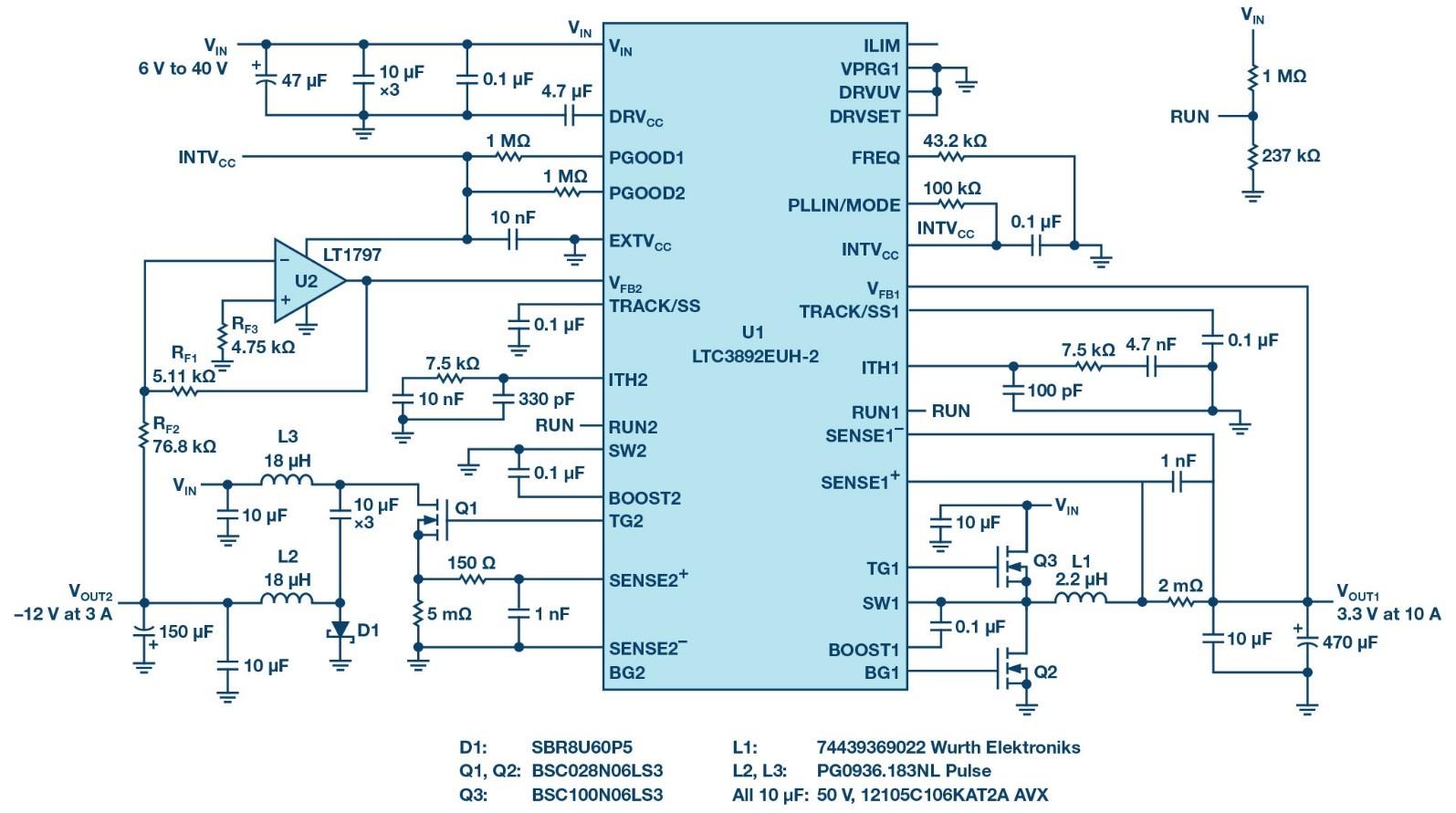 基于降压转换器的负电压方案电路设计