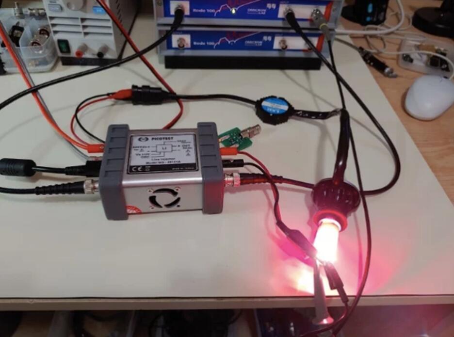 利用频率响应分析仪和线路注入器确定LED的性能