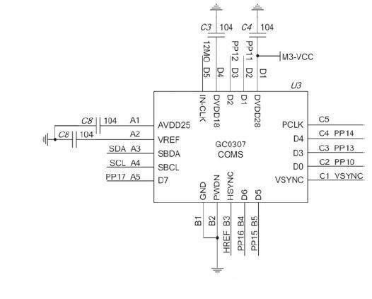 基于STM32光學指紋識別系統模塊電路圖
