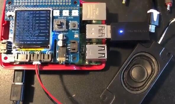 在BrainCraft HAT开发板上构建建议的机器学习电路方案实现Google Assistant唤醒