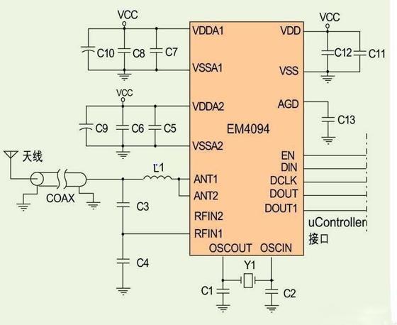 基于EM4094的RFID读卡器的模拟前端模块电路设计