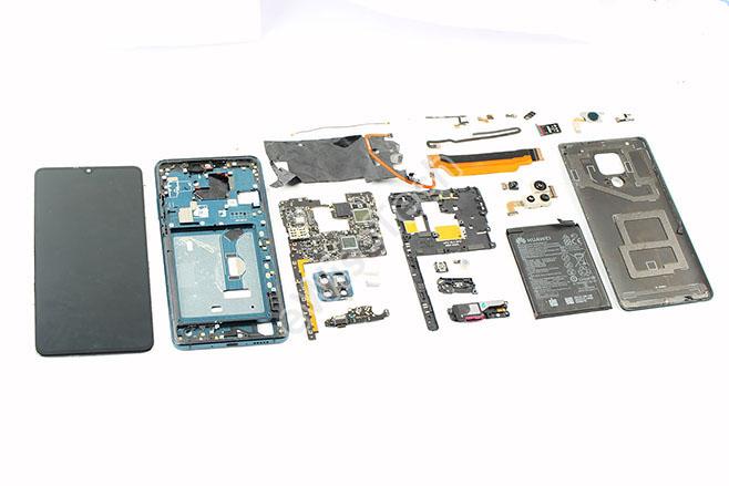 拆解華為Mate20 X 5G版本:電路設計復雜,總共2214個器件