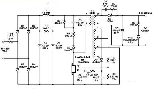 基于LNK613DG的2.75WUSB充电器电路设计