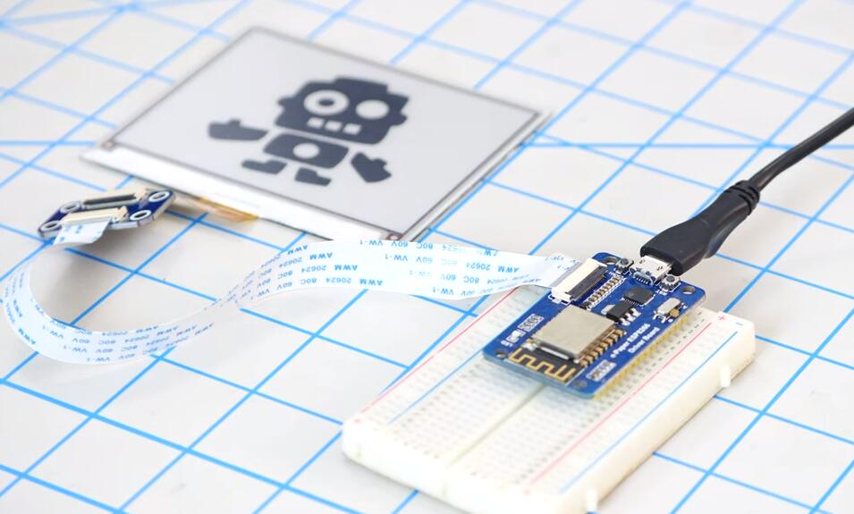 低功耗可穿戴設備必掌握電路方案-在esp8266開發板上實現電子紙顯示