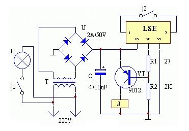 日常實用閃爍電燈制作電路圖