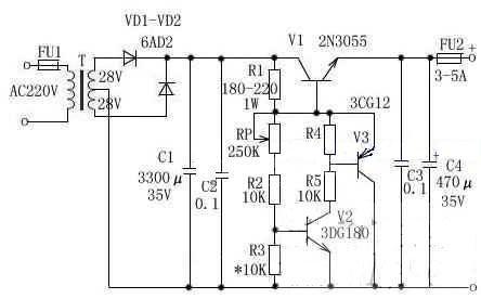 3到25V可調穩壓電路設計