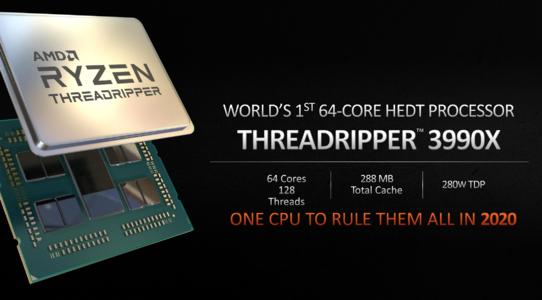 AMD營銷人員發愁64核銳龍Threadripper 3990X基準測試找不到對手